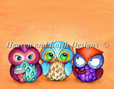 click here to view larger image of Autumn Owl Trio (chart)