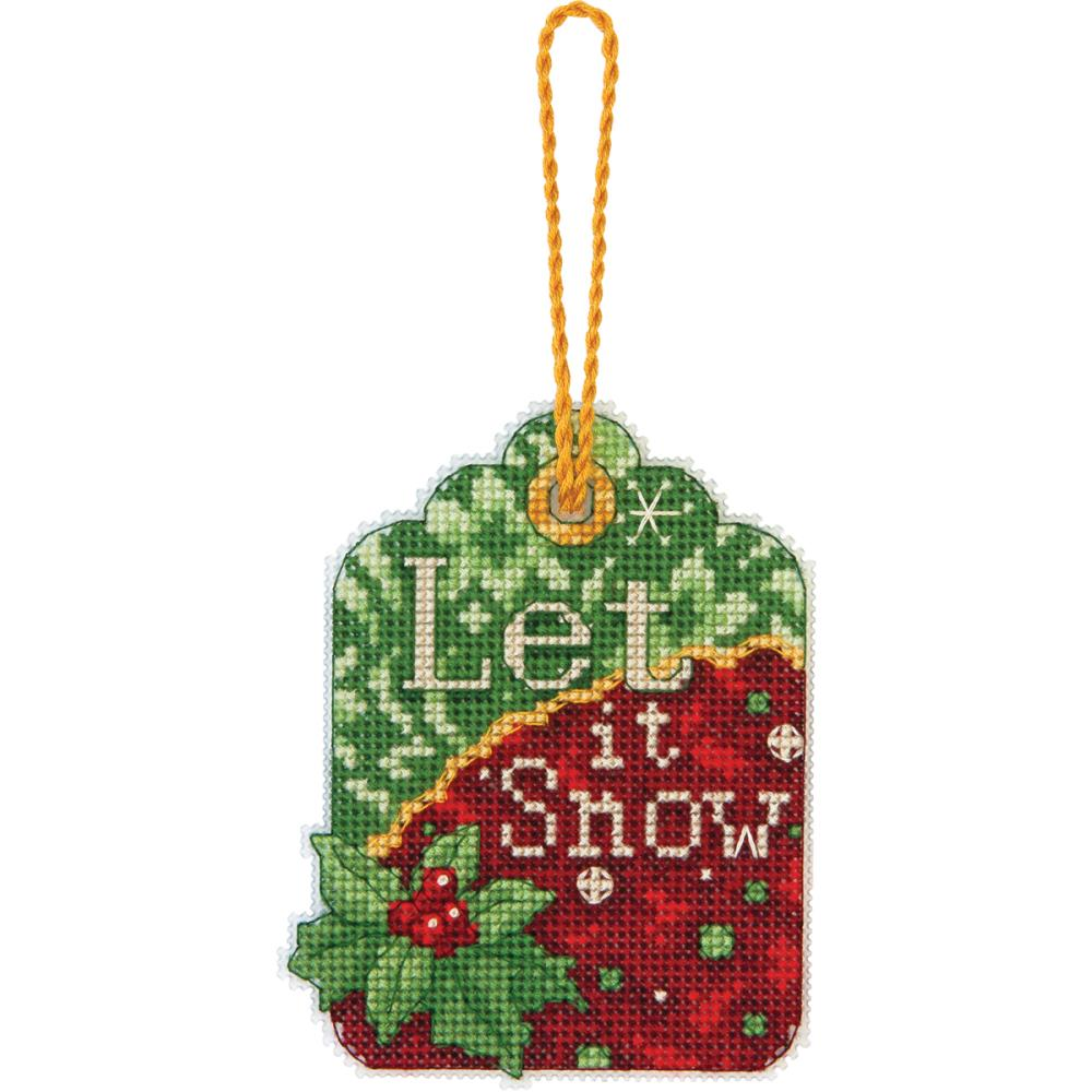 click here to view larger image of Let It Snow Ornament (counted cross stitch kit)