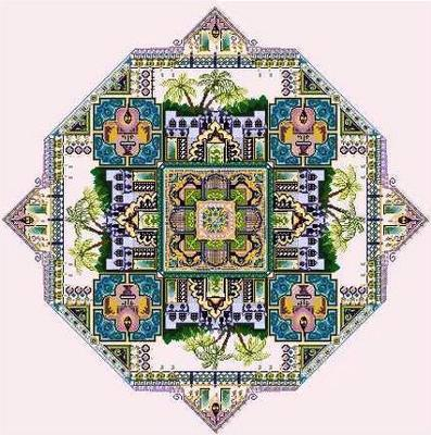 click here to view larger image of Oriental Harem Garden (chart)