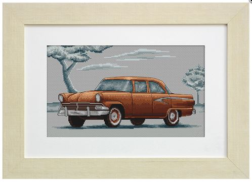 click here to view larger image of Car Retro (counted cross stitch kit)