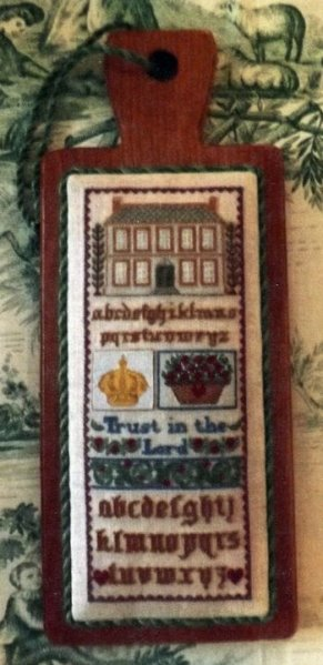 click here to view larger image of Hornbook Schoolgirl Sampler 1 (counted cross stitch kit)