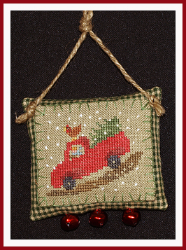 click here to view larger image of Down Jingle Pot Road - Tiny Pack (Limited Edition item) (chart with charms/buttons)