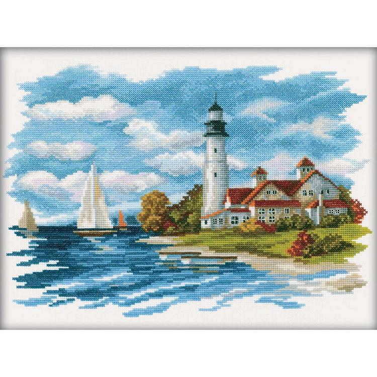 click here to view larger image of Seaside Beauty (counted cross stitch kit)