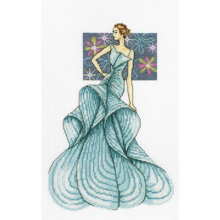 click here to view larger image of Woman of Fashion (counted cross stitch kit)