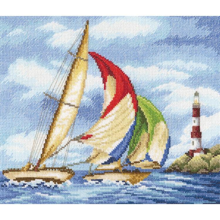 click here to view larger image of Sailing Regatta (counted cross stitch kit)
