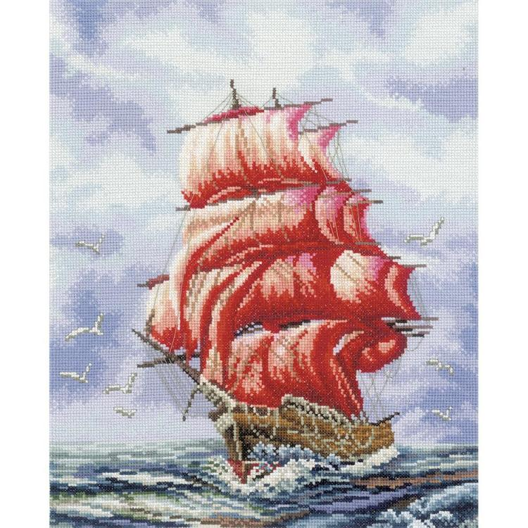 click here to view larger image of Sailing to Assol (counted cross stitch kit)