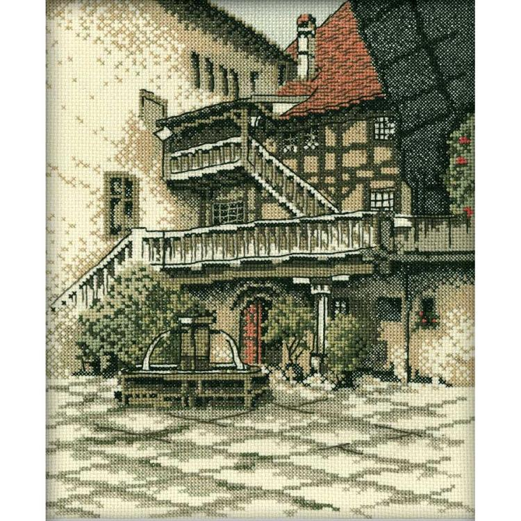 click here to view larger image of Castle Courtyard (counted cross stitch kit)
