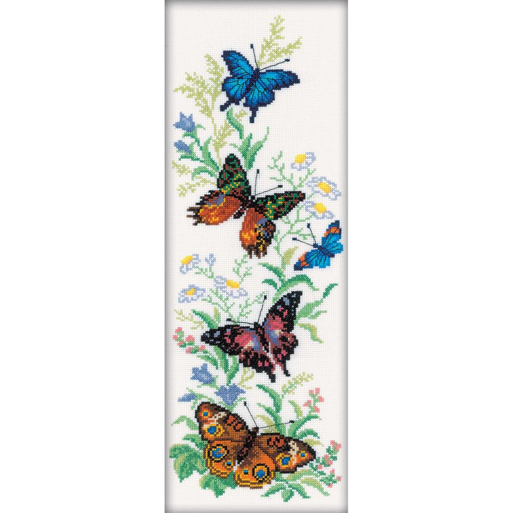 click here to view larger image of Flying Butterflies (counted cross stitch kit)