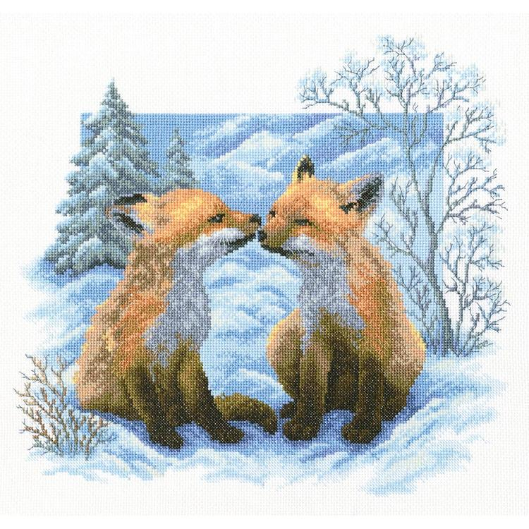 click here to view larger image of Fox Cubs (counted cross stitch kit)
