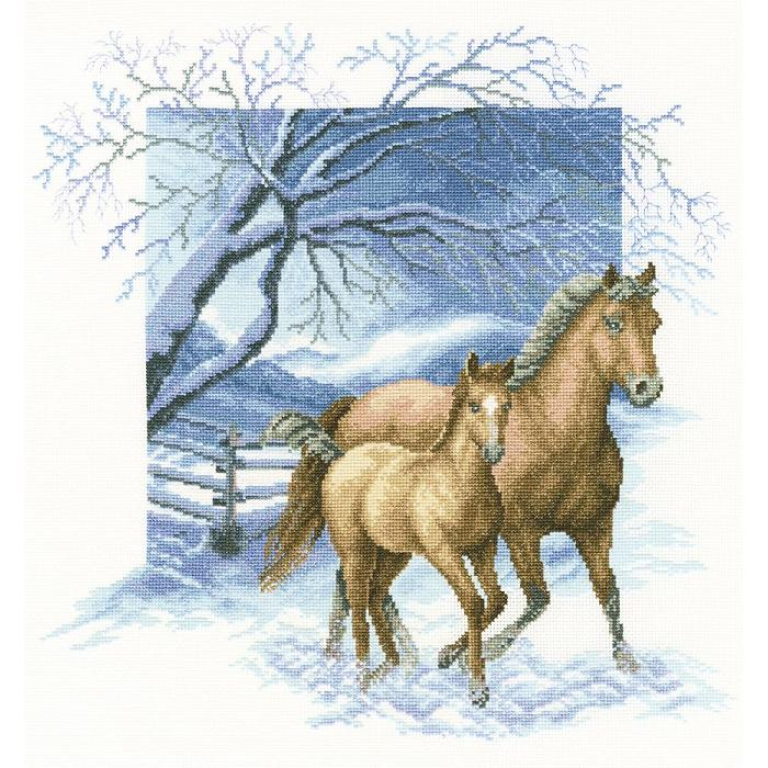 click here to view larger image of Beyond the Village Fence (counted cross stitch kit)