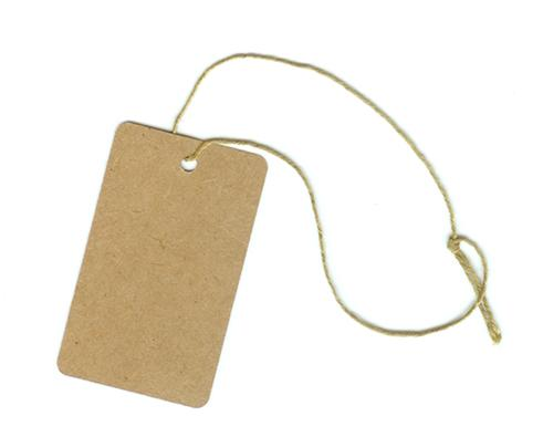 click here to view larger image of 50 Pack Gift / Ornament Tags with String (stitchable)