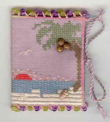 click here to view larger image of Balmy Beach Needle Book (counted cross stitch kit)