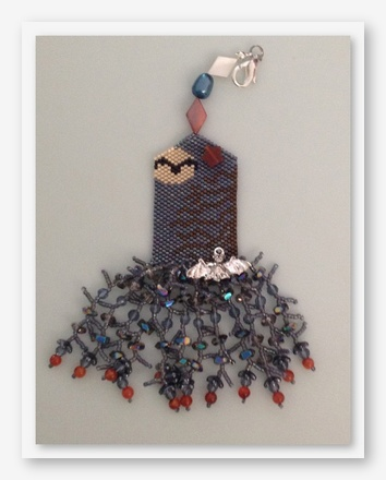 click here to view larger image of Bats All Folks Fob (bead kit)