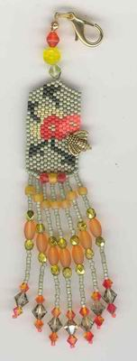 click here to view larger image of Bee Blossom Fob (bead kit)