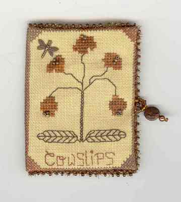 click here to view larger image of Copper Cowslips Needle Case (counted cross stitch kit)