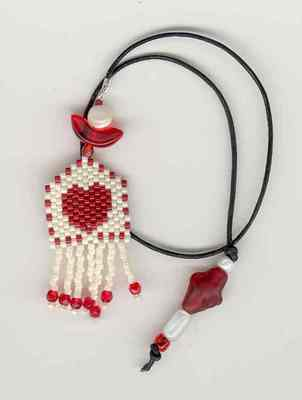 click here to view larger image of Hearts Desire Bookmark (bead kit)