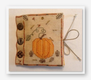 click here to view larger image of Pumpkins and Pinecones Needle Case (counted cross stitch kit)
