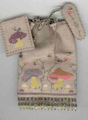 click here to view larger image of Up From Under Sewing Pouch Set (counted cross stitch kit)