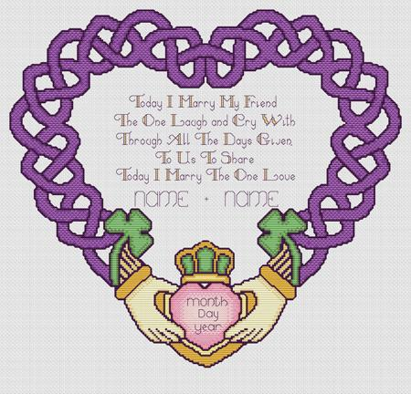 click here to view larger image of Claddagh Wedding Keepsake (chart)