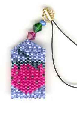click here to view larger image of Kathryns Strawberry Fone FOb (button-bead kit)
