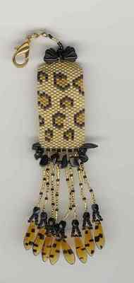 click here to view larger image of L is for Leopard Fob (bead kit)
