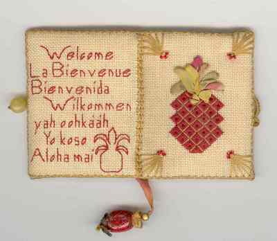 click here to view larger image of Welcome to Our World Needlebook (counted cross stitch kit)