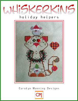 click here to view larger image of Holiday Helpers - Whiskerkins (chart with charms/buttons)