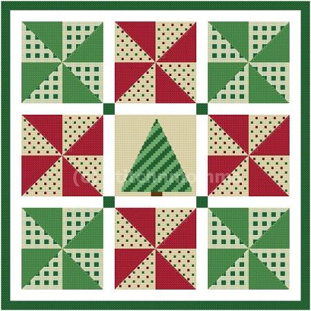click here to view larger image of Pinwheel Christmas Quilt (chart)