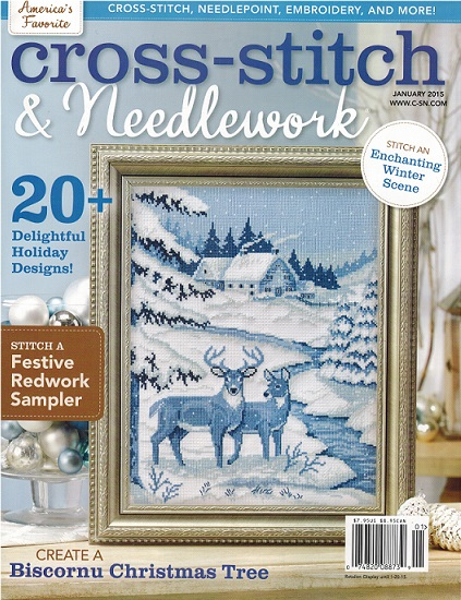 click here to view larger image of Cross Stitch & Needlework Magazine - January 2015 (magazines)