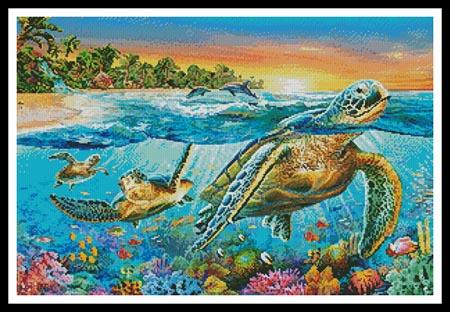 Underwater Turtles - click here for more details about chart