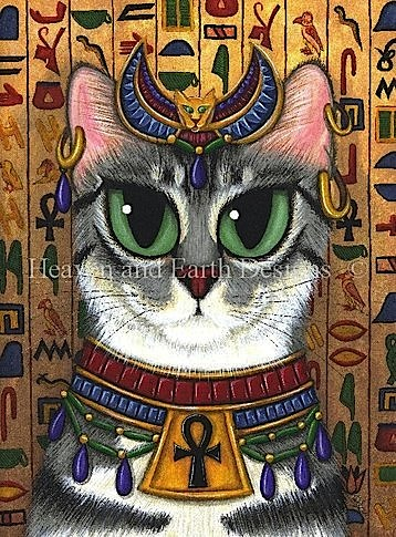 click here to view larger image of Bast Goddess Cat (chart)