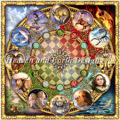 click here to view larger image of Zodiac Mandala (chart)