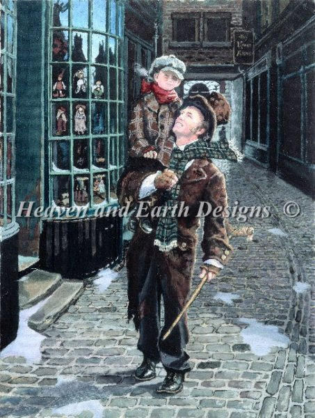 click here to view larger image of Bob Cratchit and Tiny Tim (chart)