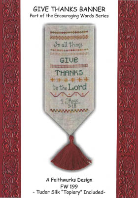 click here to view larger image of Give Thanks Banner (chart with charms/buttons)