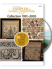 click here to view larger image of Sampler & Antique Needlework Quartly Collection 1991-2000 (DVD)