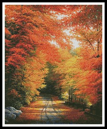 click here to view larger image of Autumn in New England  (Charles White) (chart)
