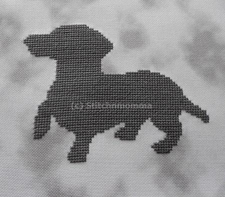 click here to view larger image of Dachshund Silhouette (chart)