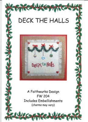 click here to view larger image of Deck the Halls (with charms) (chart with charms/buttons)