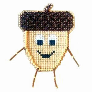 click here to view larger image of Acorn Buddy Kit (counted cross stitch kit)
