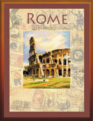 click here to view larger image of Cities of the World - Rome (counted cross stitch kit)