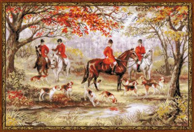 click here to view larger image of Riding Out (counted cross stitch kit)
