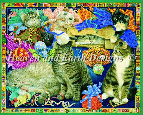 click here to view larger image of Cats With All the Presents (chart)