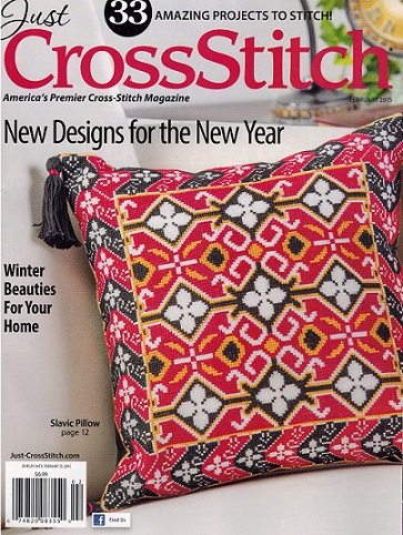 click here to view larger image of Just Cross Stitch - February 2015 (magazines)