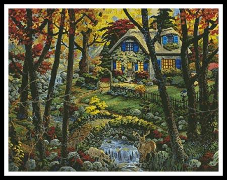 click here to view larger image of Cottage in a Forest  (Joseph Burgess) (chart)