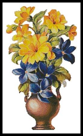 click here to view larger image of Yellow and Blue Flowers (chart)
