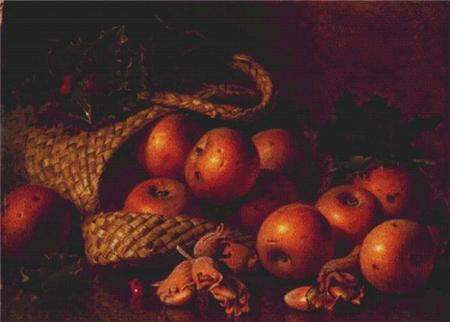 click here to view larger image of Apples in an Overturned Basket (chart)