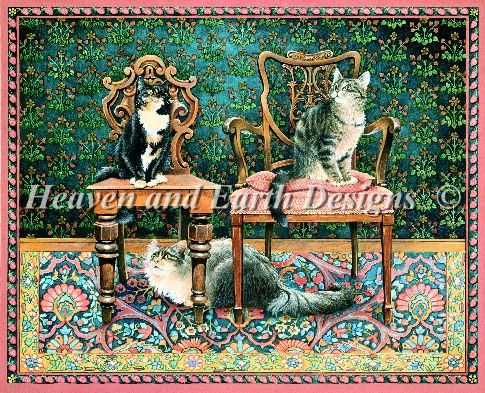 click here to view larger image of Octopussy and Motley on Mothers Chairs (chart)