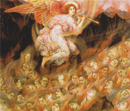 click here to view larger image of Angel Piping to the Souls in Hell (chart)