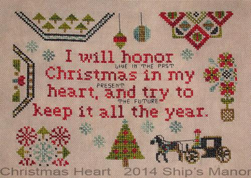click here to view larger image of Christmas Heart (chart)