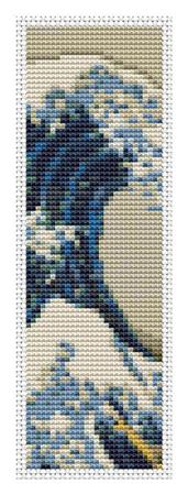 click here to view larger image of Great Wave Off Kanagawa - Bookmark (chart)